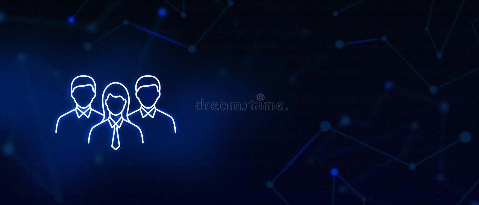 Team players, Professionals, Managers, corporate group, icon, Contact us, Website banner, background. Team players, Professionals group, Managers, Corporate vector illustration