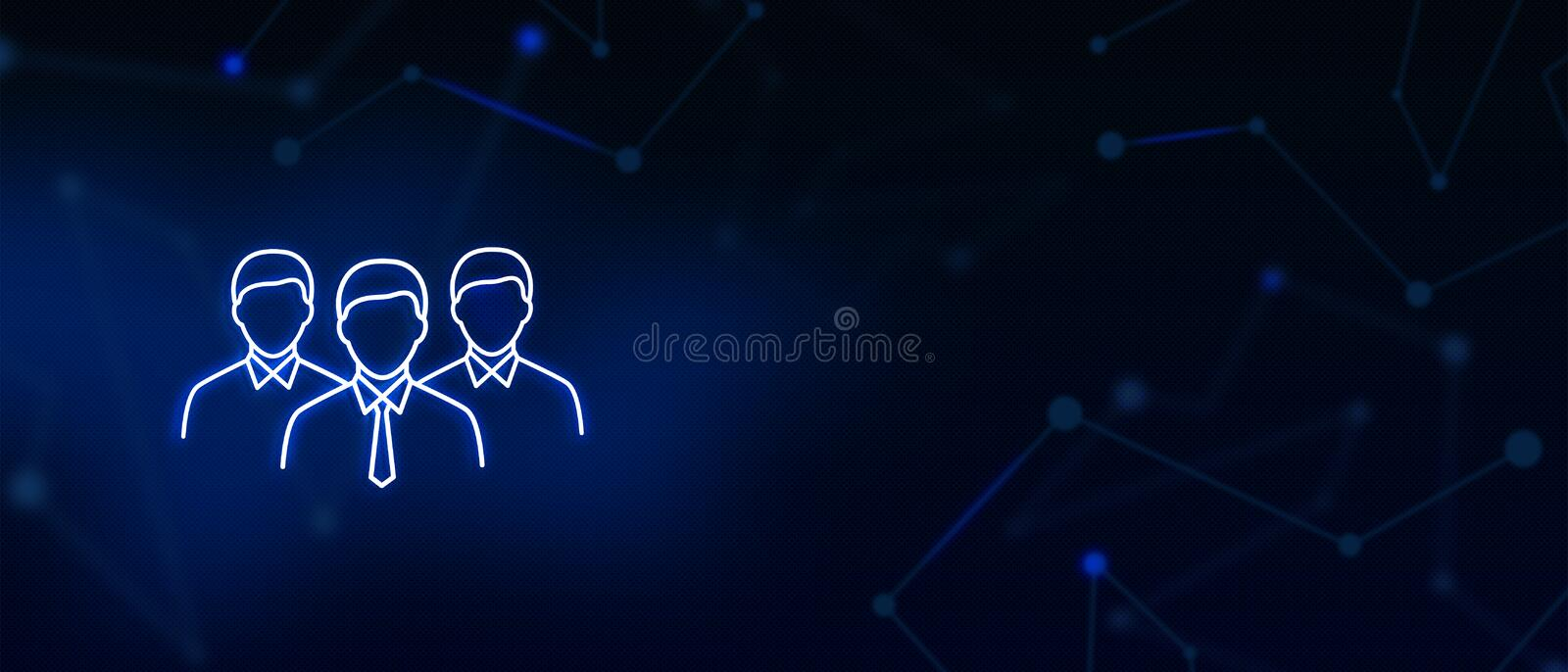 Team players, Professionals, Managers, corporate group, icon, Contact us, Website banner, background. Team players, Professionals group, Managers, Corporate stock illustration