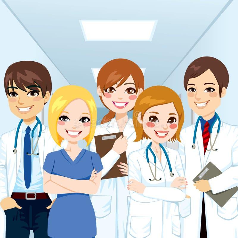 Team Professionals médical illustration de vecteur