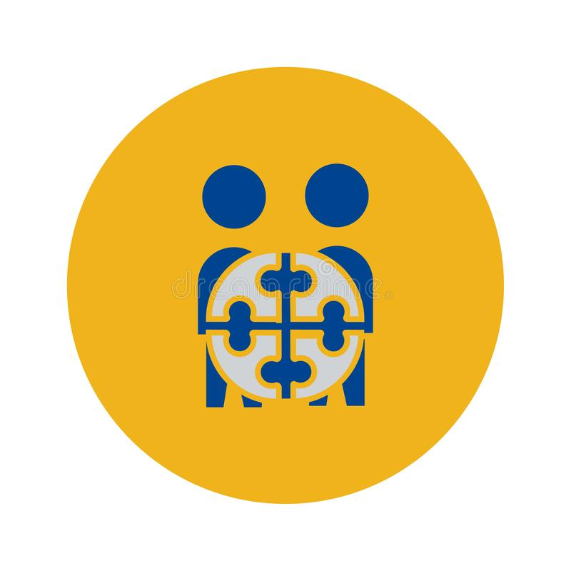 Team Project-Ikone Vektorzeichensymbol stock abbildung