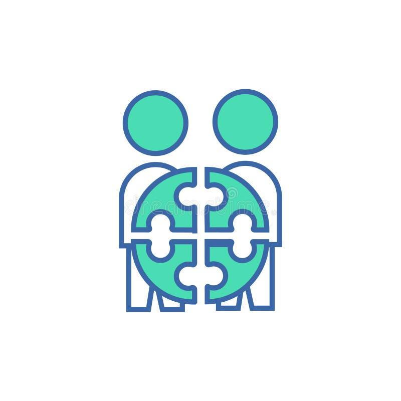 Team Project-pictogram vectorregeling en Diagramsymbool vlak Team Project-pictogram stock illustratie