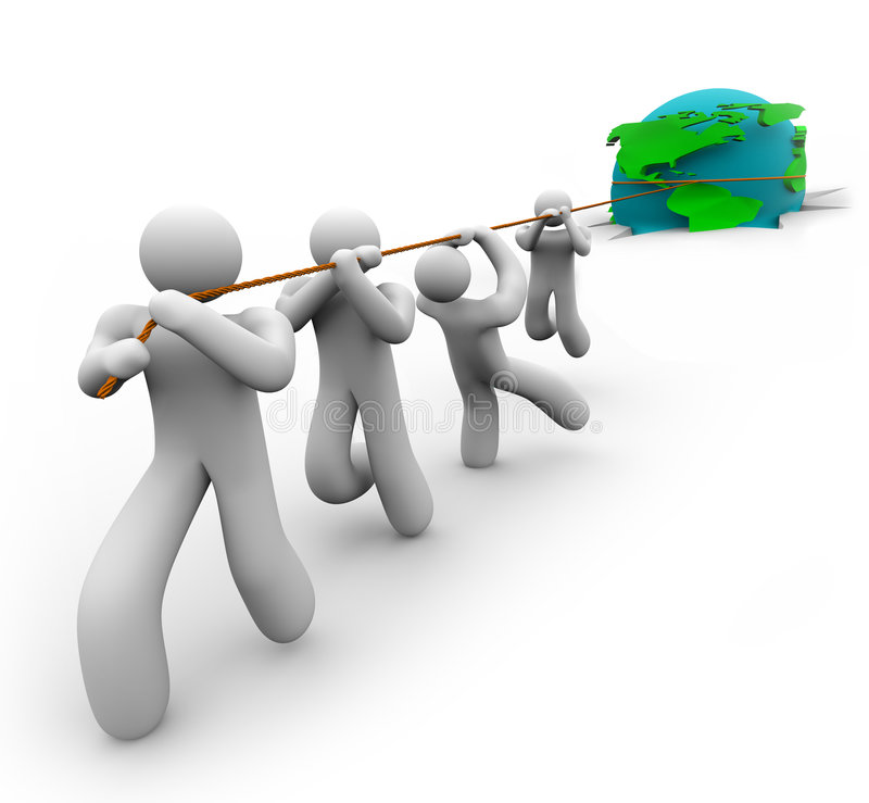 Download Team Pulling Earth Out Of Hole Stock Illustration - Image: 7891354