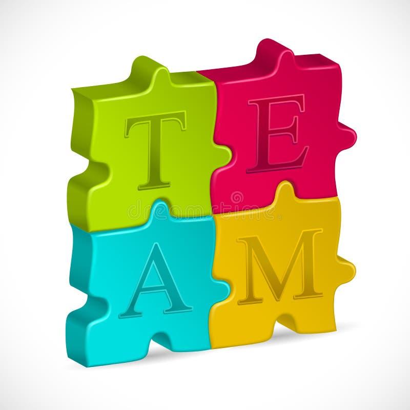 Team-Puzzle stock abbildung