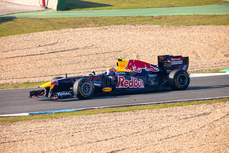 Download Team Red Bull Racing F1, Mark Webber, 2011 Editorial Photo - Image: 19083606