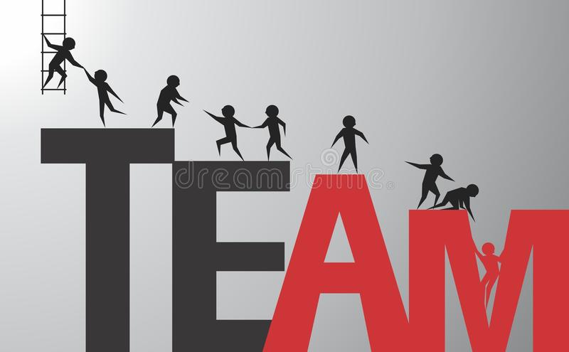 Successful team. The team is a rescue! Vector format
