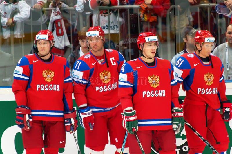 Team Rusland IIHF 2010 royalty-vrije stock afbeeldingen