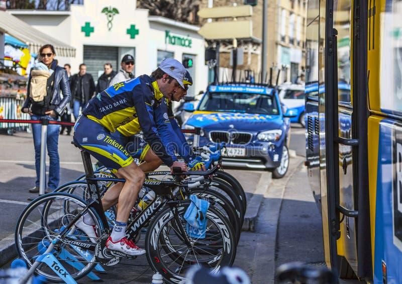 Download Team Saxo-Thinkoff editorial image. Image of bike, effort - 30375150