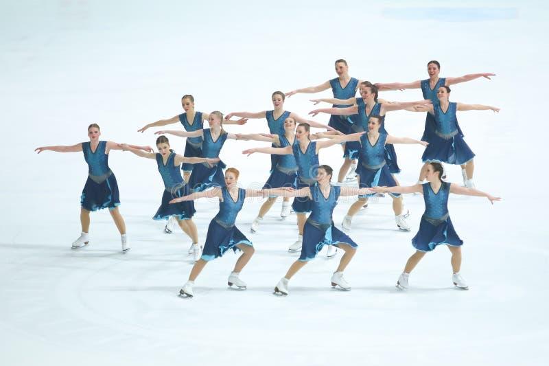 Team Skating Graces-Groep stock afbeelding