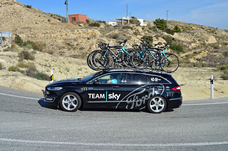 Team Sky Ford Car arkivbild