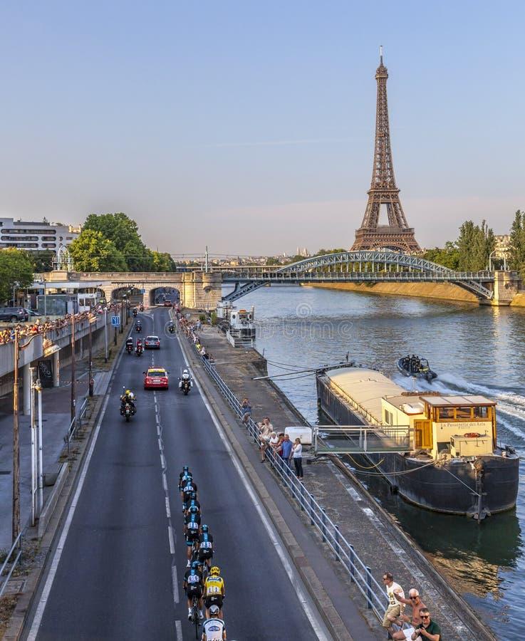 Team Sky A Parigi Immagine Stock Editoriale