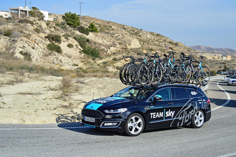 Download Team Sky Support Vehicle editorial stock photo. Image of road - 66304443