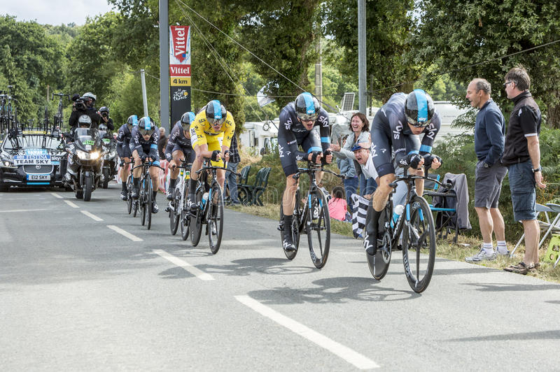 Team Sky - Team Time Trial 2015 royalty free stock image