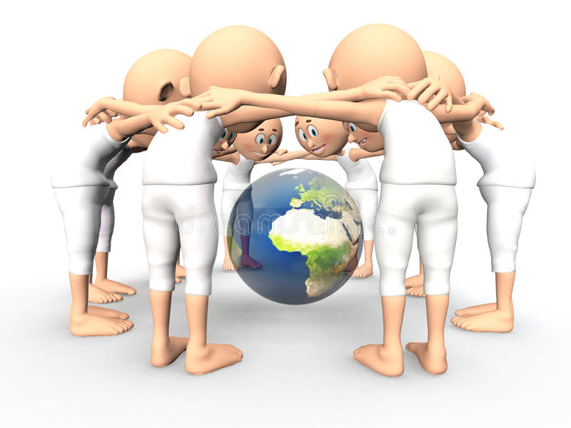 Download Team Spirit, Debate About Earth Stock Illustration - Image: 23840766