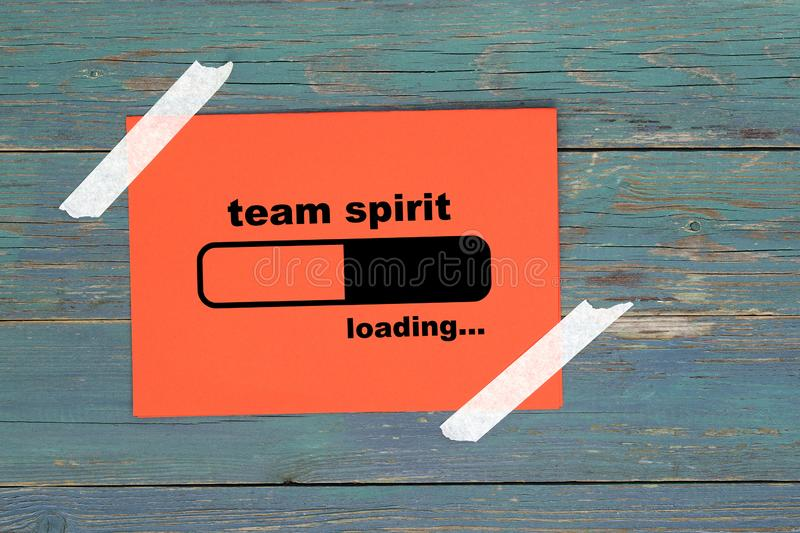 Team spirit loading on paper vector illustration