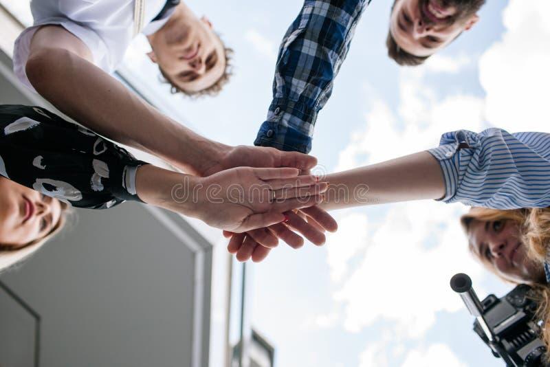 Team spirit work partnership unity motivation royalty free stock photos