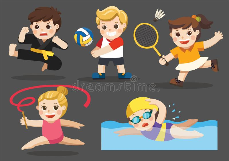 Team sports for Player. Team sports for kids including Gymnastic, Volleyball, Swimming, Badminton , Karate