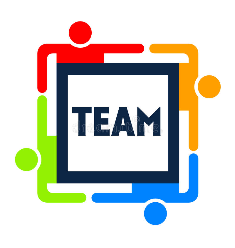 Team Square Logo vector illustration