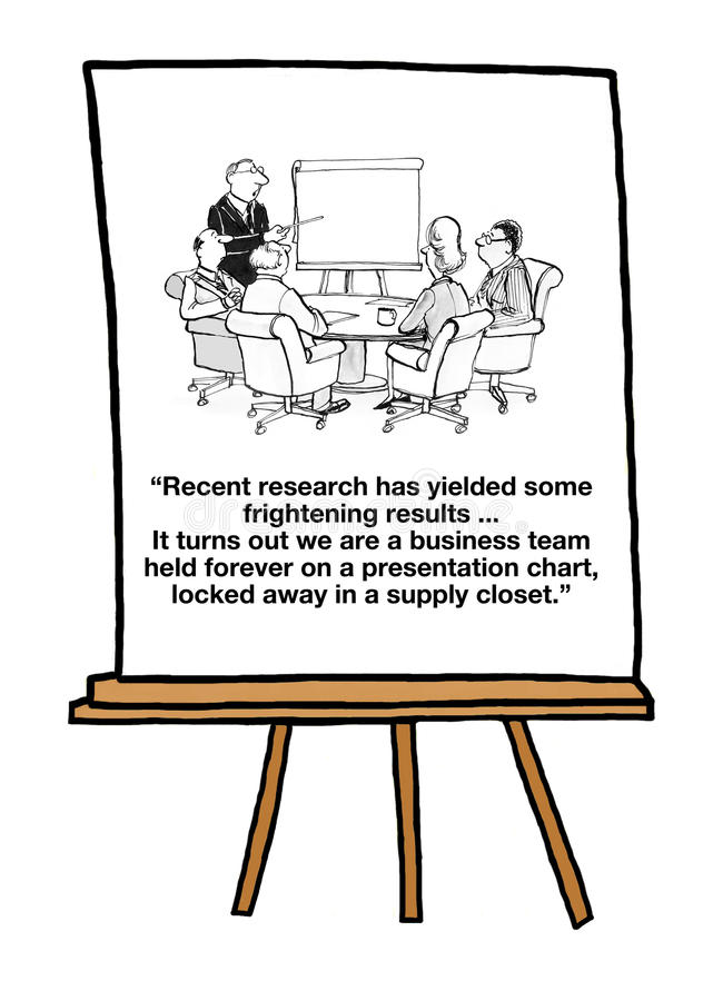Team Stuck Inside Presentation Chart royalty free illustration