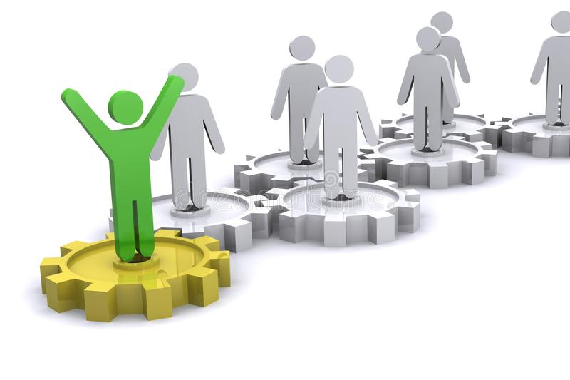 Download Team Success stock illustration. Image of ideas, attached - 10530593