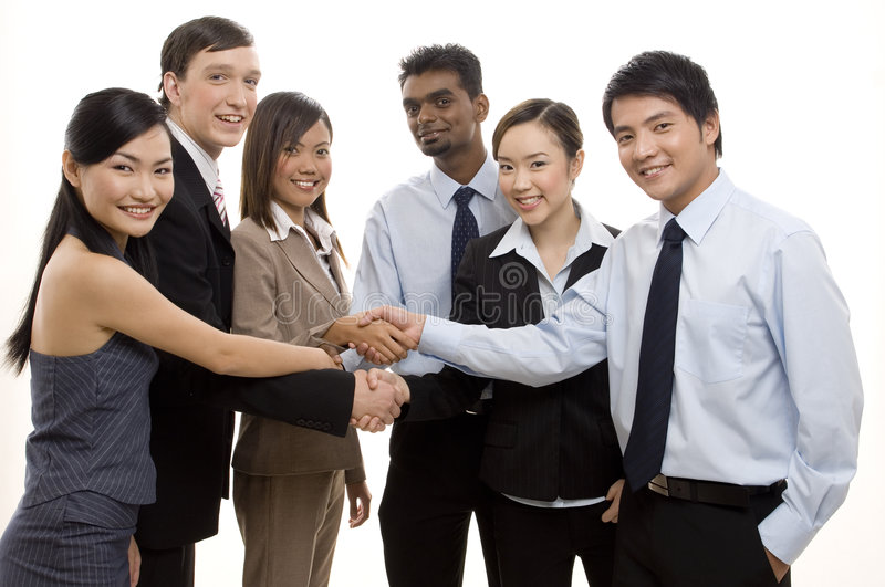 Team Success 3. An ethnically diverse business team celebrate their success royalty free stock photography