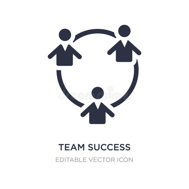 Team success icon on white background. Simple element illustration from People concept. Team success icon symbol design royalty free illustration
