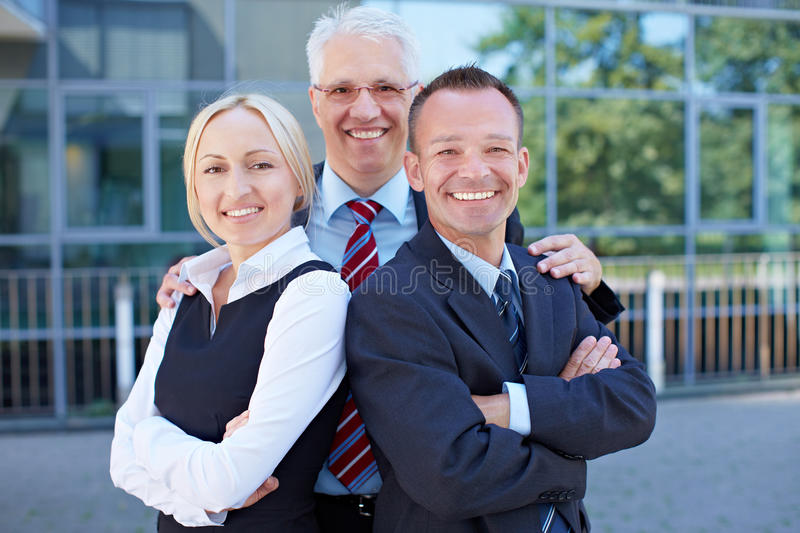 Team of successful business people royalty free stock image