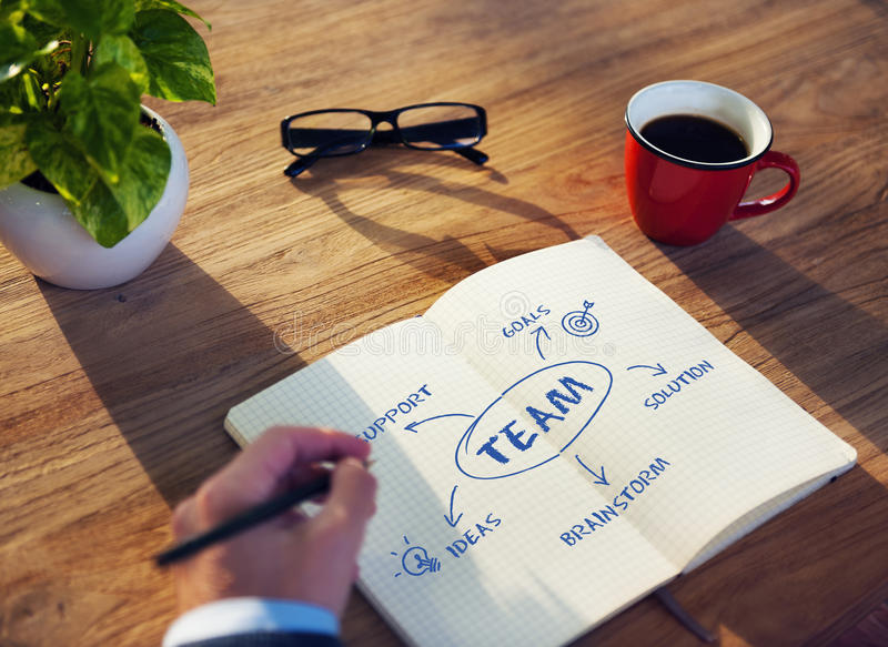 Team Support Ideas Business Concept stock foto's