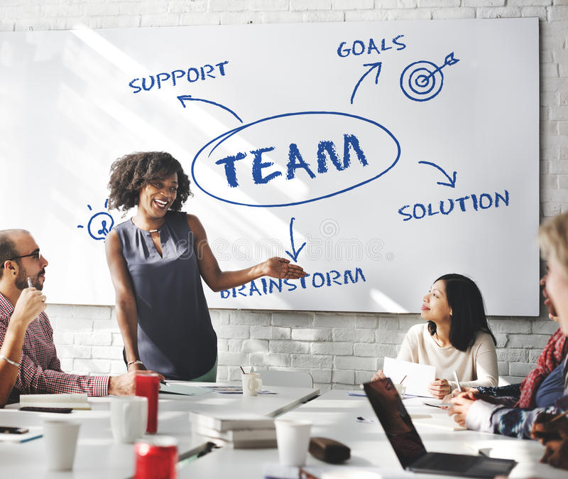 Team Support Ideas Business Concept fotografía de archivo