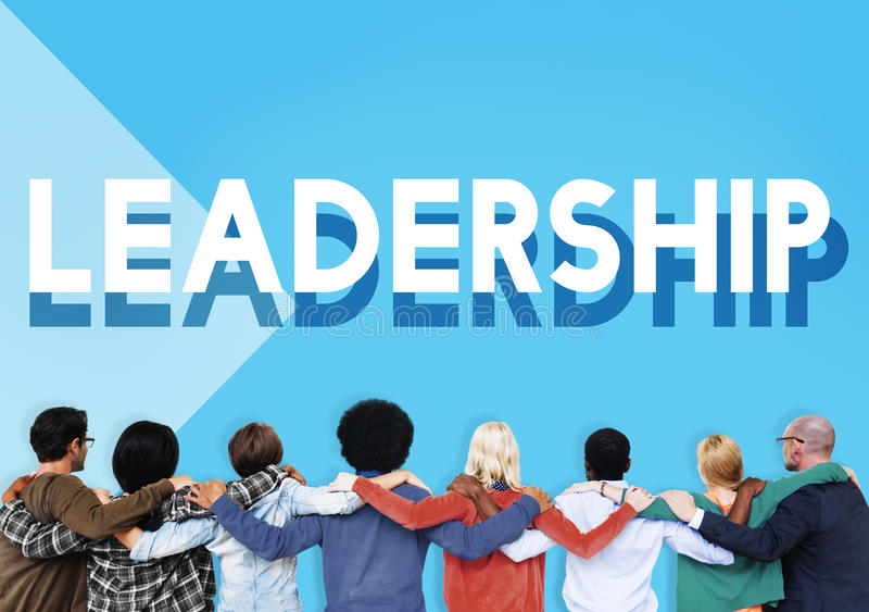 Team Support Lead Leadership Marketing Concept stock image
