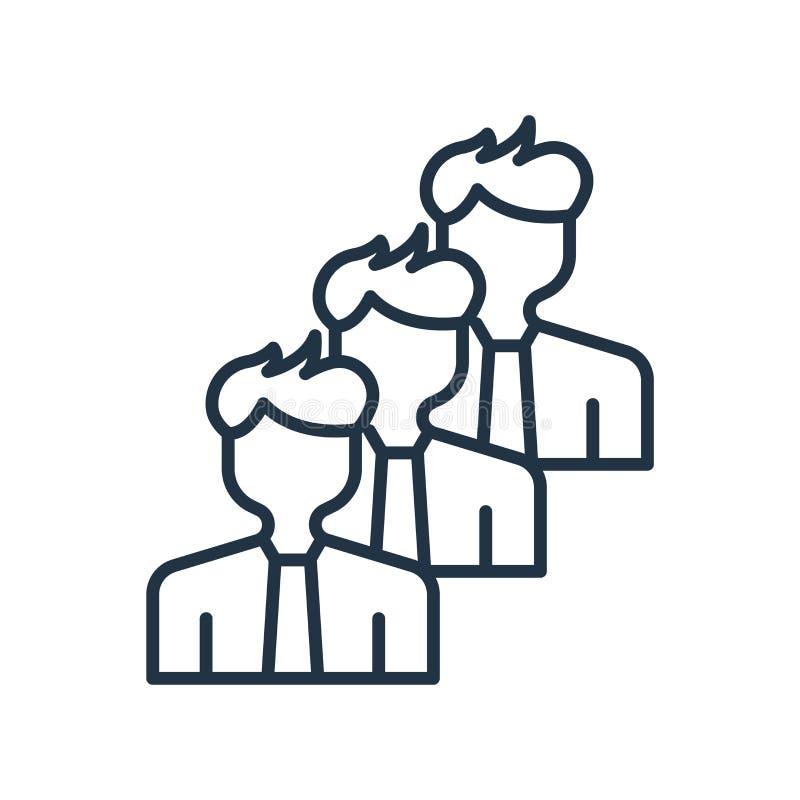 Team symbolsvektorn som isoleras på vit bakgrund, lagtecken stock illustrationer
