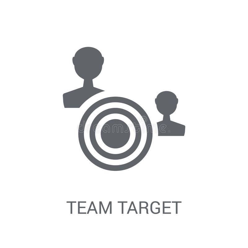 Team Target Icon  illustrazione vettoriale