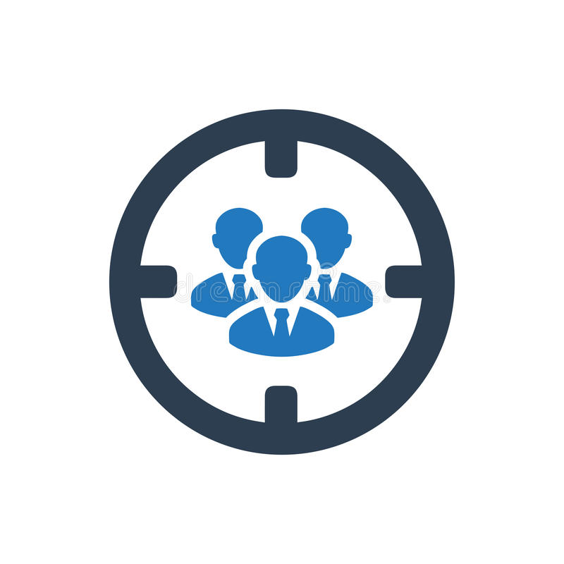 Team Target Icon ilustração stock