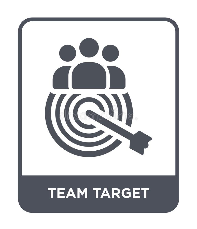 team target icon in trendy design style. team target icon isolated on white background. team target vector icon simple and modern stock illustration