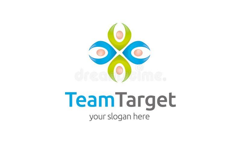 Team Target Logo Template royalty illustrazione gratis