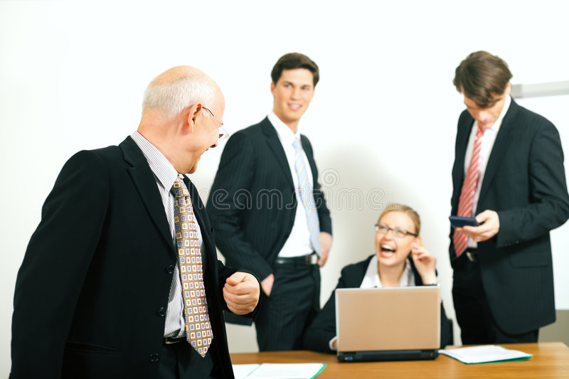 Team and Teamleader: success stock photography