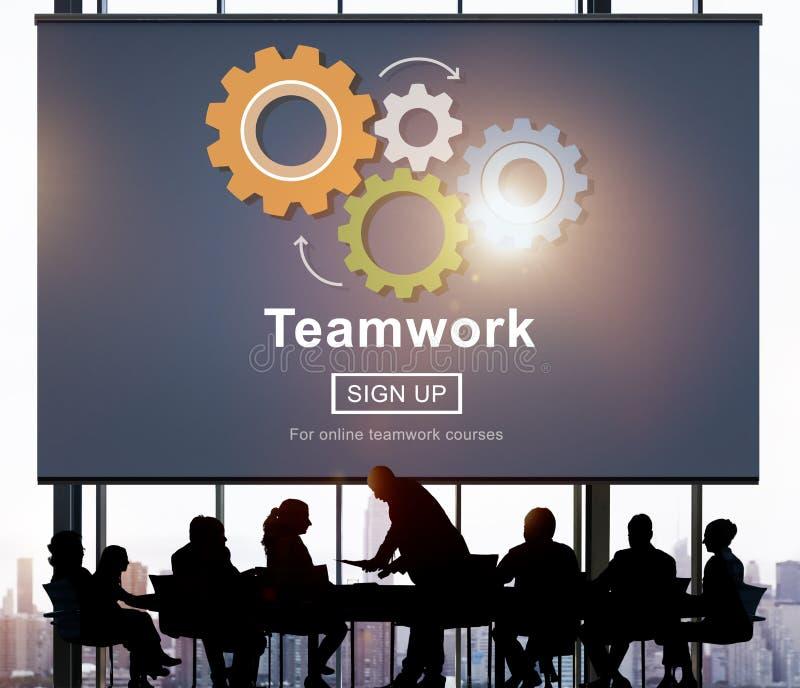 Team Teamwork Collaboration Cooperation Concept immagini stock