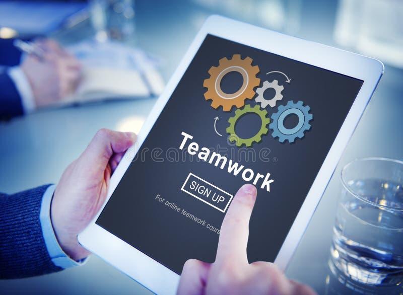 Team Teamwork Collaboration Cooperation Concept fotografia stock