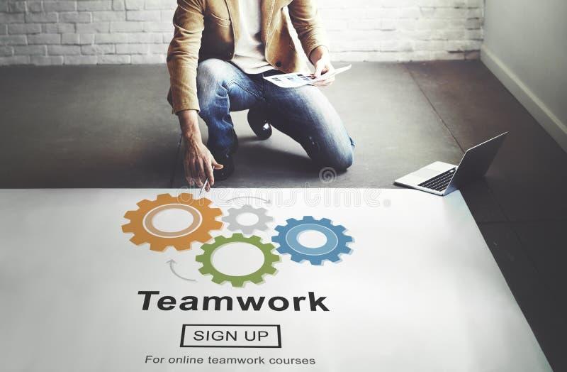 Team Teamwork Collaboration Cooperation Concept fotografie stock libere da diritti