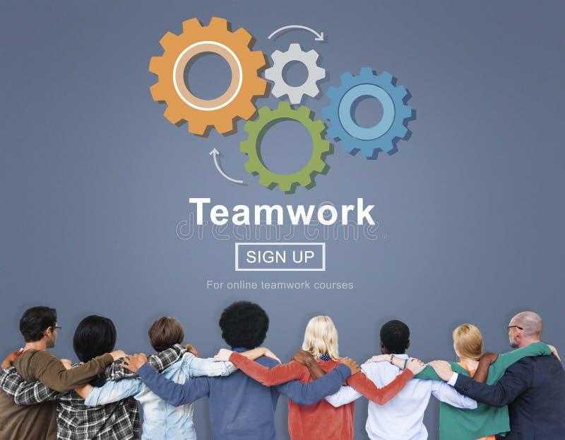 Team Teamwork Collaboration Cooperation Concept fotografie stock