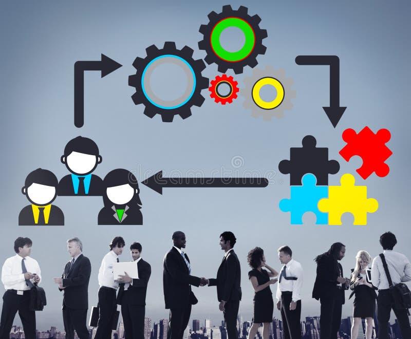 Team Teamwork Collaboration Corporate Concept immagini stock