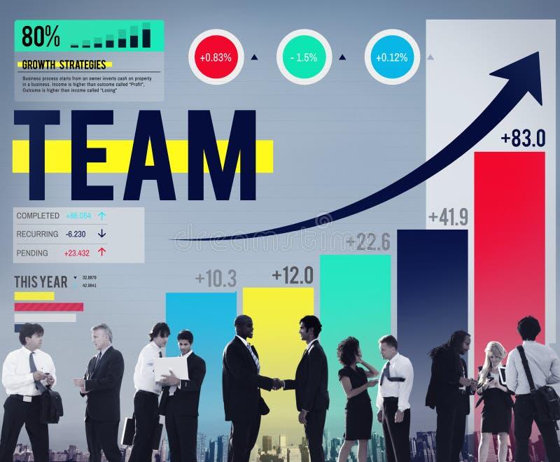 Team Teamwork Collaboration Support Concept immagine stock libera da diritti