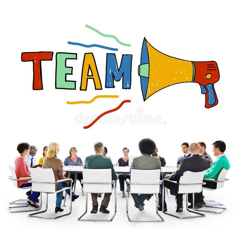 Team Teamwork Corporate Partnership Collaboration-Concept stock afbeelding