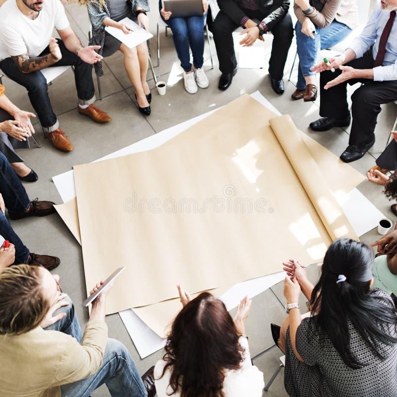 Team Teamwork Meeting Start herauf Konzept lizenzfreies stockbild