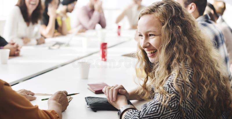 Team Teamwork Meeting Start op Concept royalty-vrije stock afbeelding