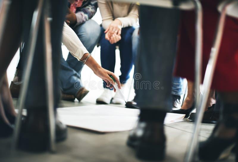 Team Teamwork Meeting Start sul concetto fotografia stock