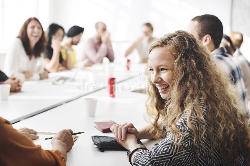 Team Teamwork Meeting Start sul concetto fotografie stock