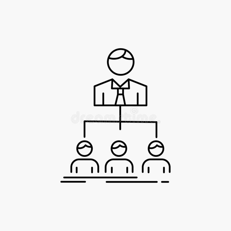 Team, Teamwork, Organisation, Gruppe, Firmalinie Ikone Vektor lokalisierte Illustration vektor abbildung