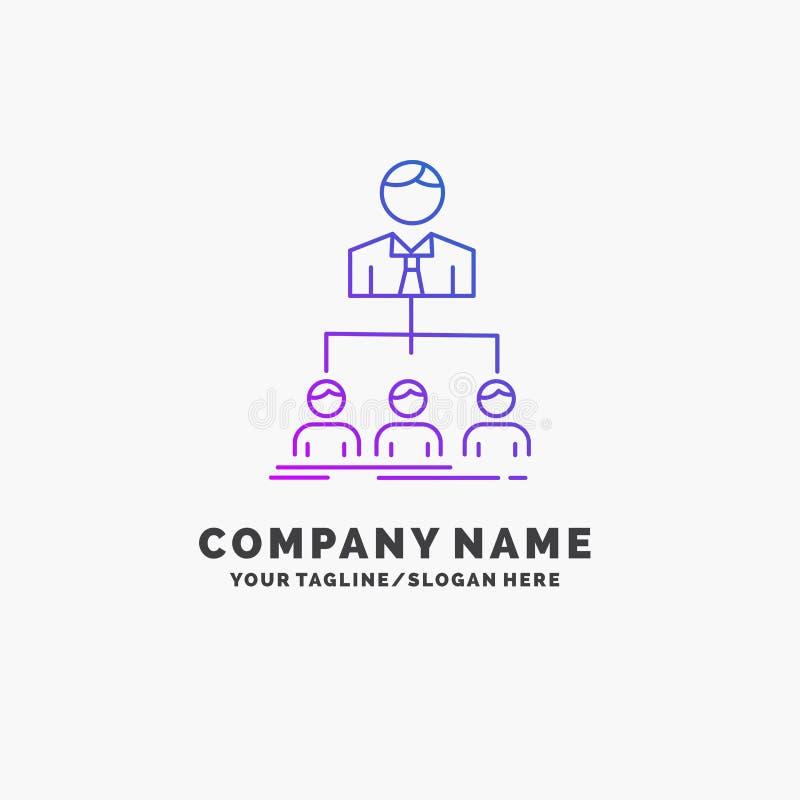 Team, Teamwork, Organisation, Gruppe, Firmapurpurrotes Gesch?ft Logo Template Platz f?r Tagline stock abbildung