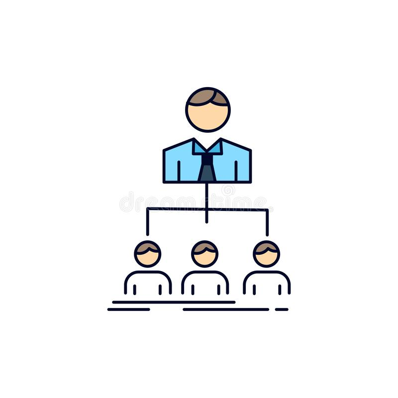 Team, Teamwork, Organisation, Gruppe, Werkswohnung Farbikonen-Vektor lizenzfreie abbildung