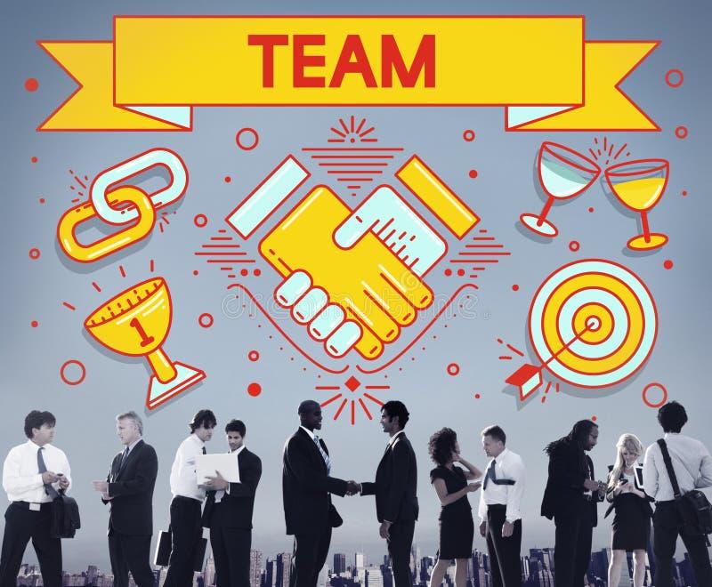 Team Teamwork Partnership Collaboration Concept fotografie stock